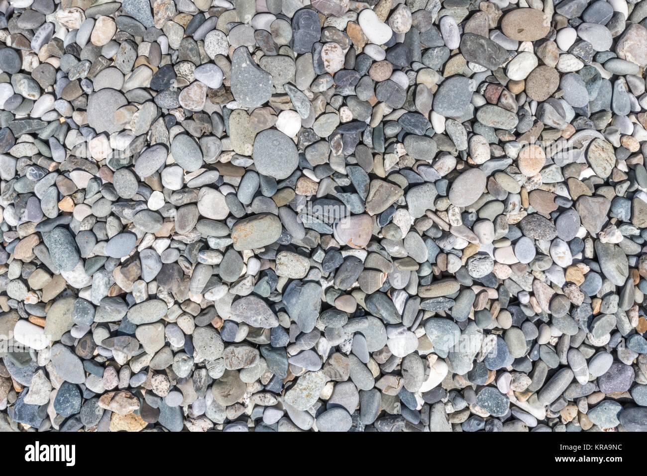 Gravier (gris clair) Galets marbre texture, vue d\'en haut Banque D ...