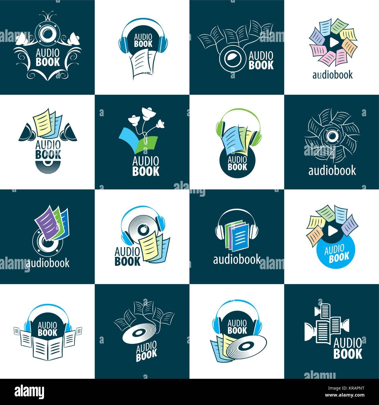 Concept Audio Book Headphones Vector Photos Concept Audio