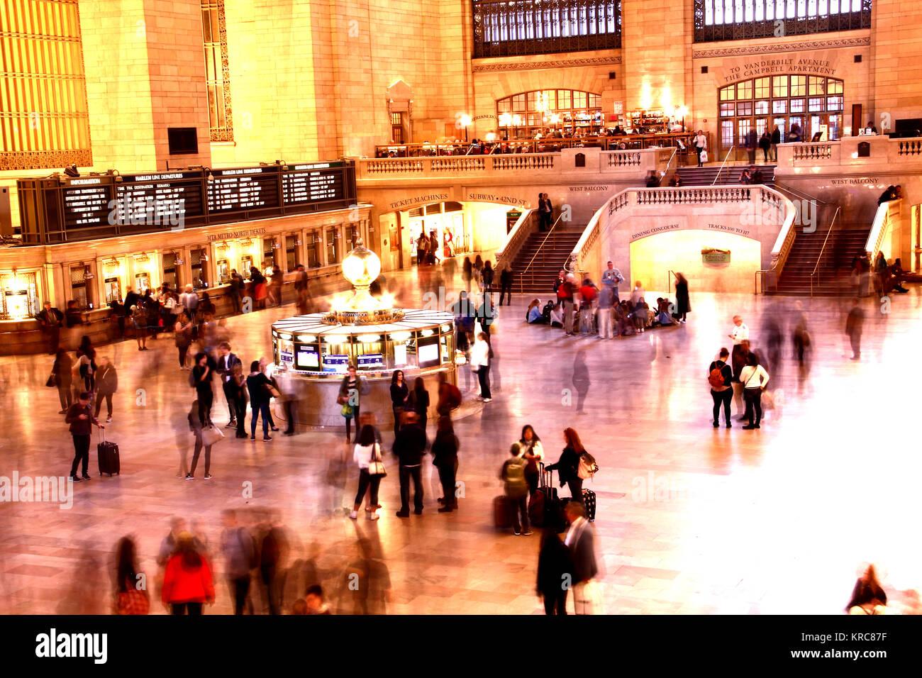 Occupé à Grand Central Terminal Photo Stock