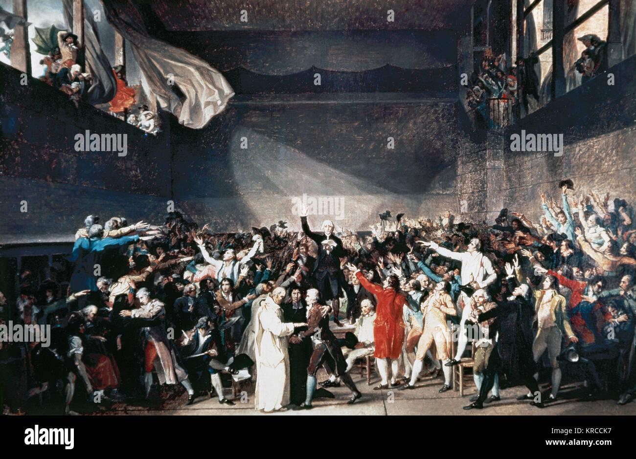 Jacques Louis David 1748 1825 Peintre Francais Dans Le Style Neo Classique Revolution Francaise La Cour De Tennis Serment 20 Juin 1789 La Peinture Musee Carnavalet Paris La France Photo Stock Alamy