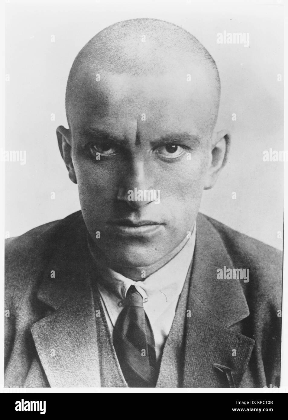 VLADIMIR MAÏAKOVSKI - poète russe et un partisan du Parti communiste en Russie (cette photo est datée Photo Stock