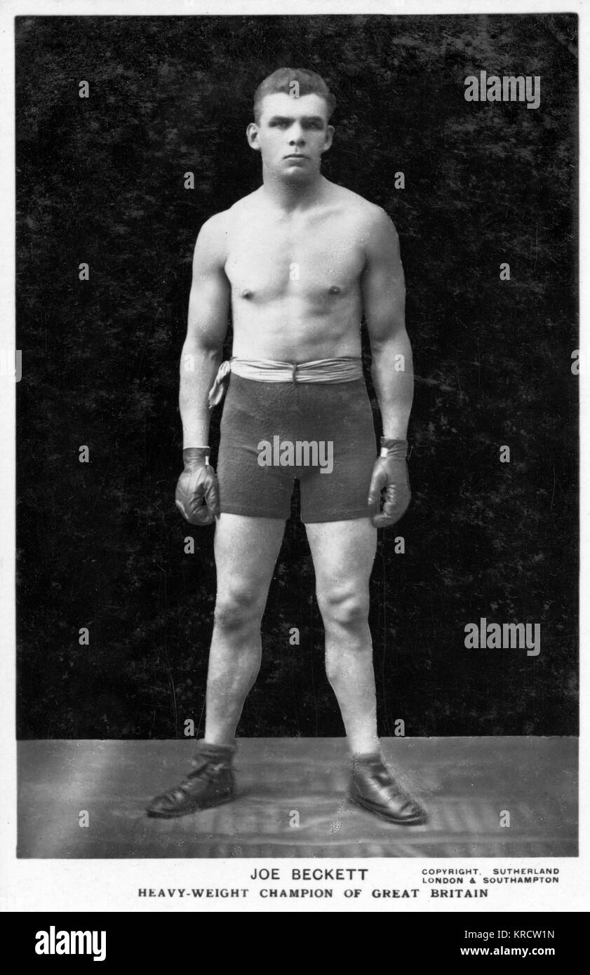 Joe Beckett (1892-1965), Champion de boxe poids lourd de Grande-Bretagne. Date: 1920 Photo Stock