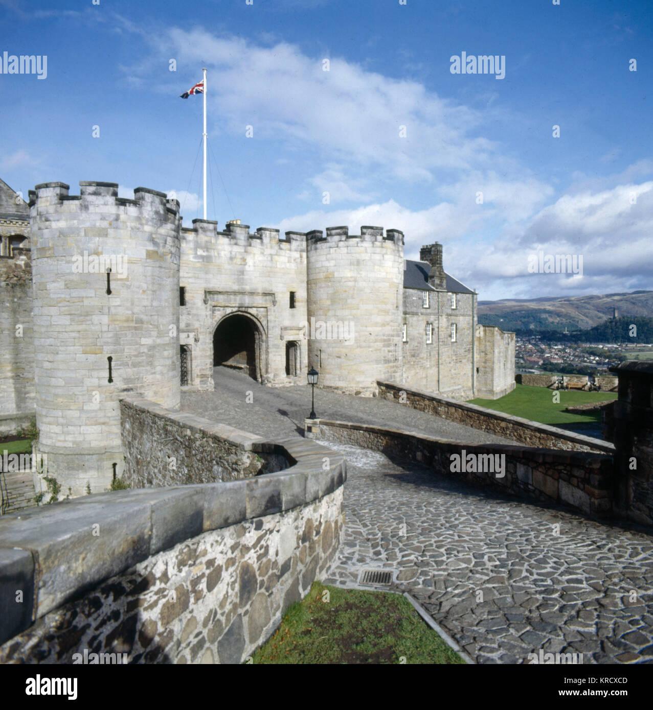 La porterie, le château de Stirling. Les écossais a repris possession de l'anglais après la victoire Photo Stock