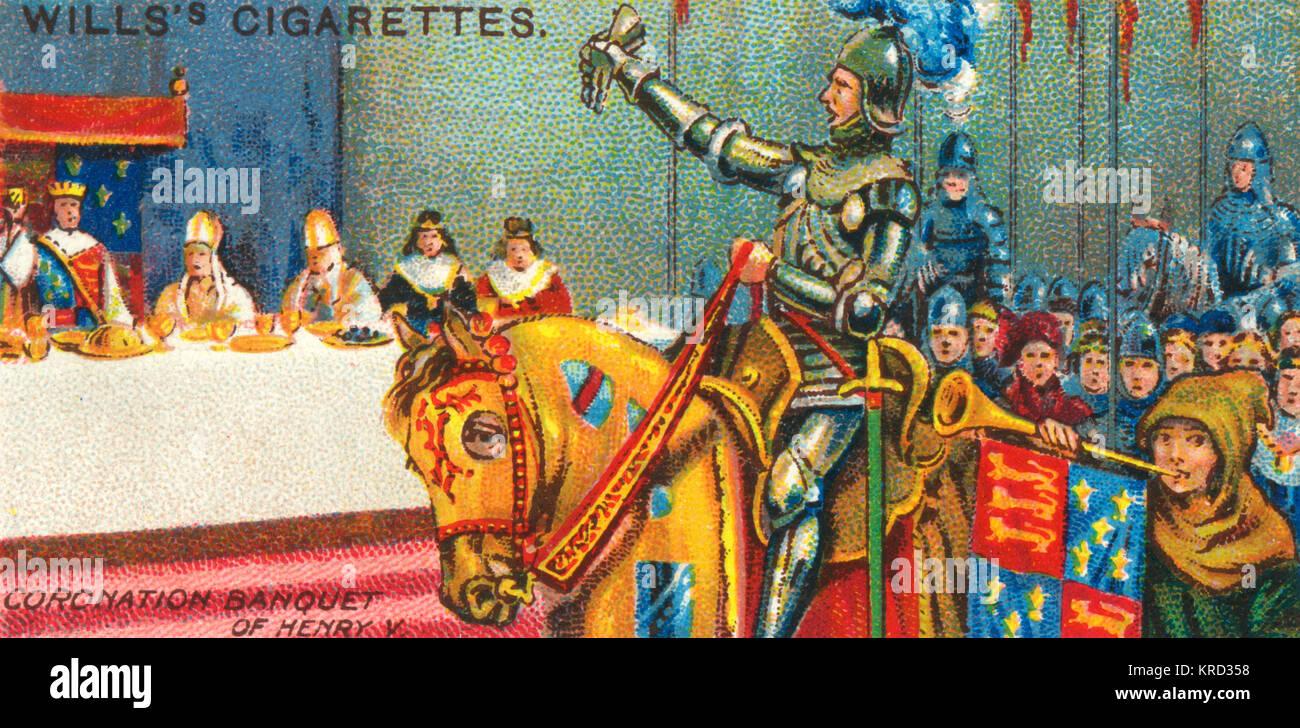 Après la cérémonie du couronnement de banquet pour le roi henry v en