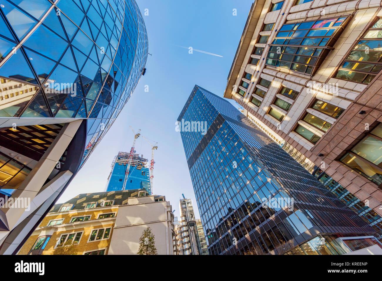 Londres, Royaume-Uni - 26 OCTOBRE: c'est une vue de la ville de Londres, l'architecture du quartier financier le Banque D'Images