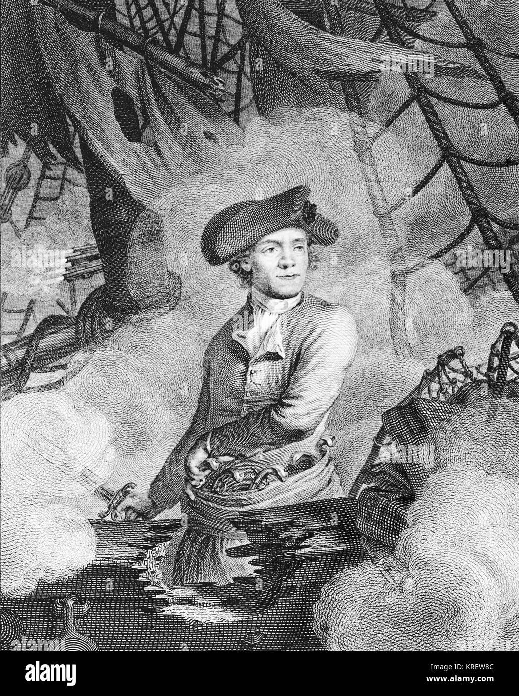 Portrait de John Paul Jones Banque D'Images