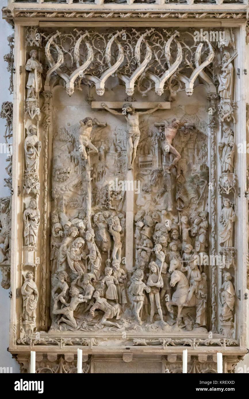 La Pappenheim autel (section du milieu, la cathédrale de Notre Dame et Sts. Willibald et Salvator, Eichstätt, Photo Stock