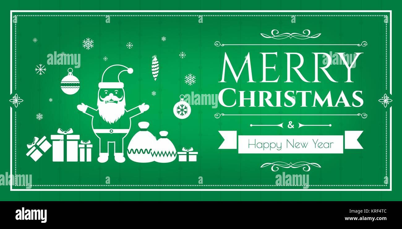 Ensemble d'icônes de Noël dans internet bannière dans l'illustration vectorielle. Icône de Bell, l'ensemencement, arbre de Noël, les rennes, présent, Père Noël, bonhomme de neige. Le tem Illustration de Vecteur
