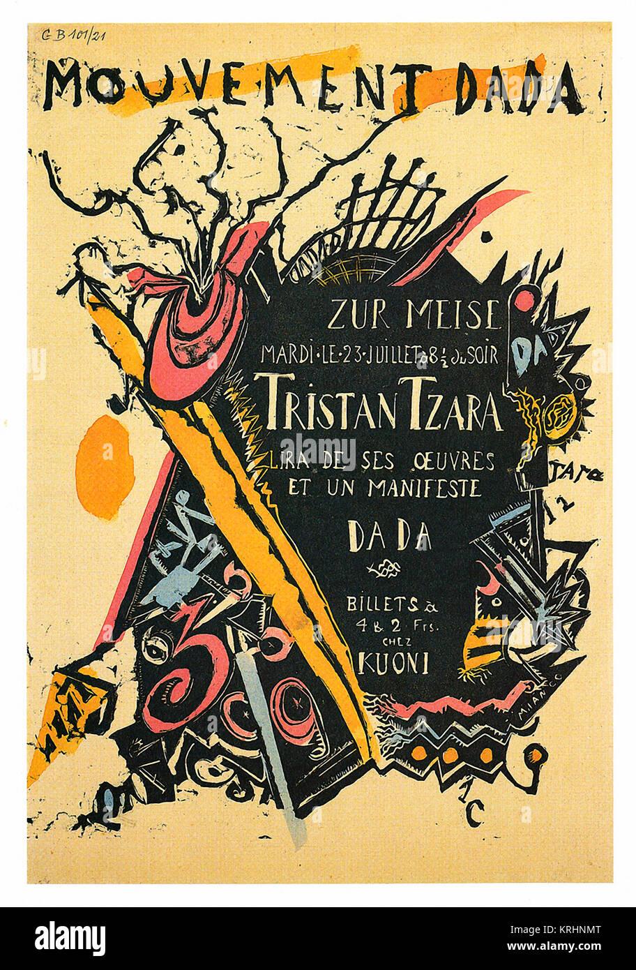 Dada Tristan Tzara Photo Stock