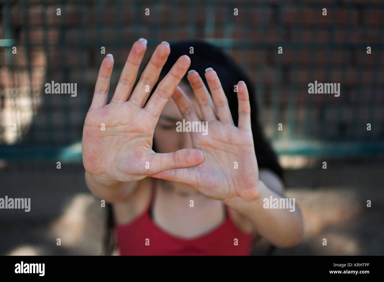 Femme de la douleur Photo Stock