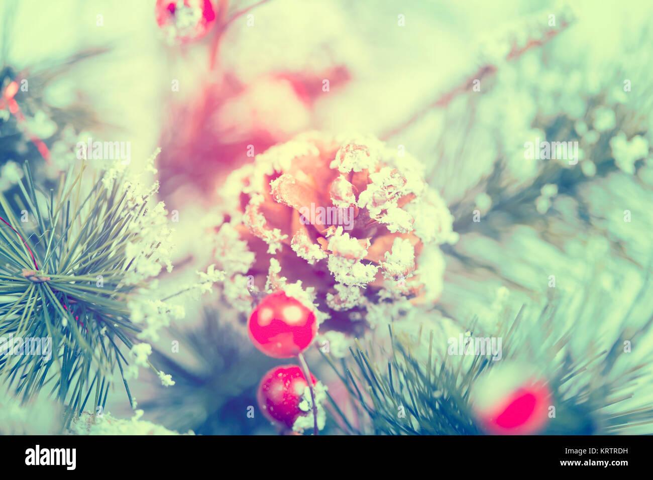 Close up sur décoration d'arbre de Noël Banque D'Images