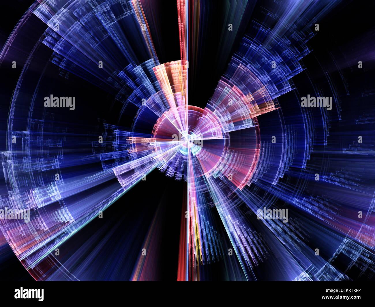 La rotation d'éclatement conceptuel Banque D'Images