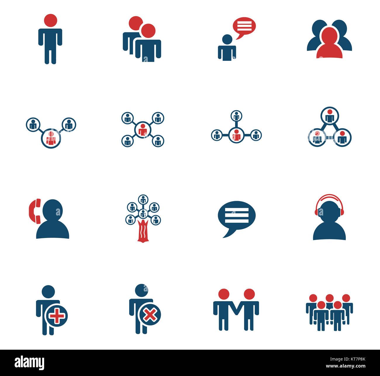 Community icon set Banque D'Images