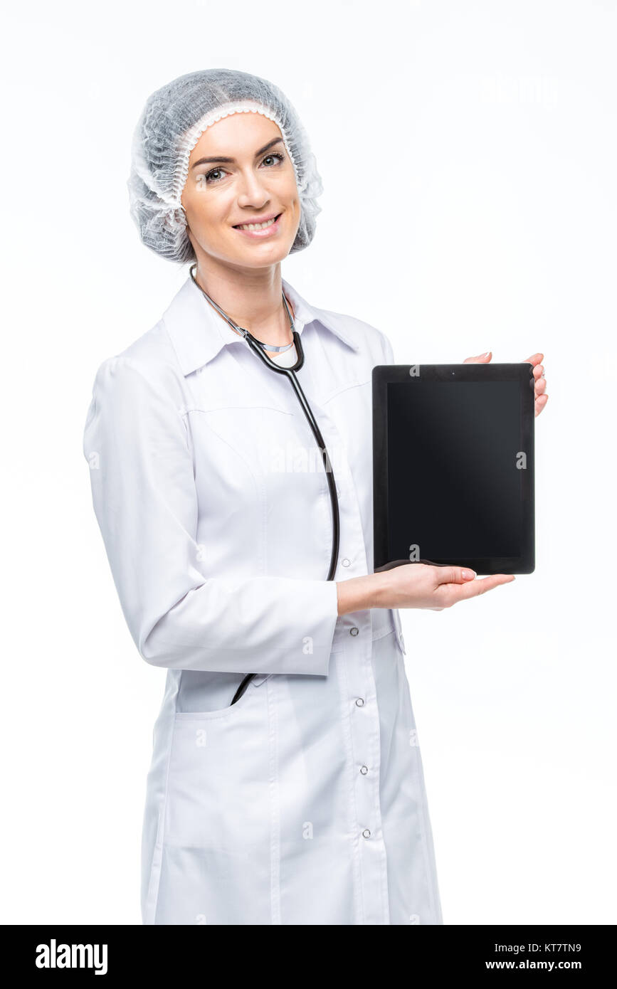 Doctor holding digital tablet Photo Stock