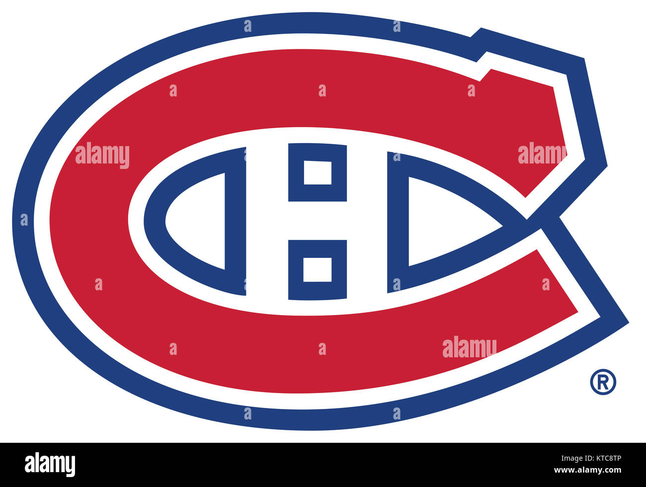 NHL Logo des Canadiens de Montréal Photo Stock