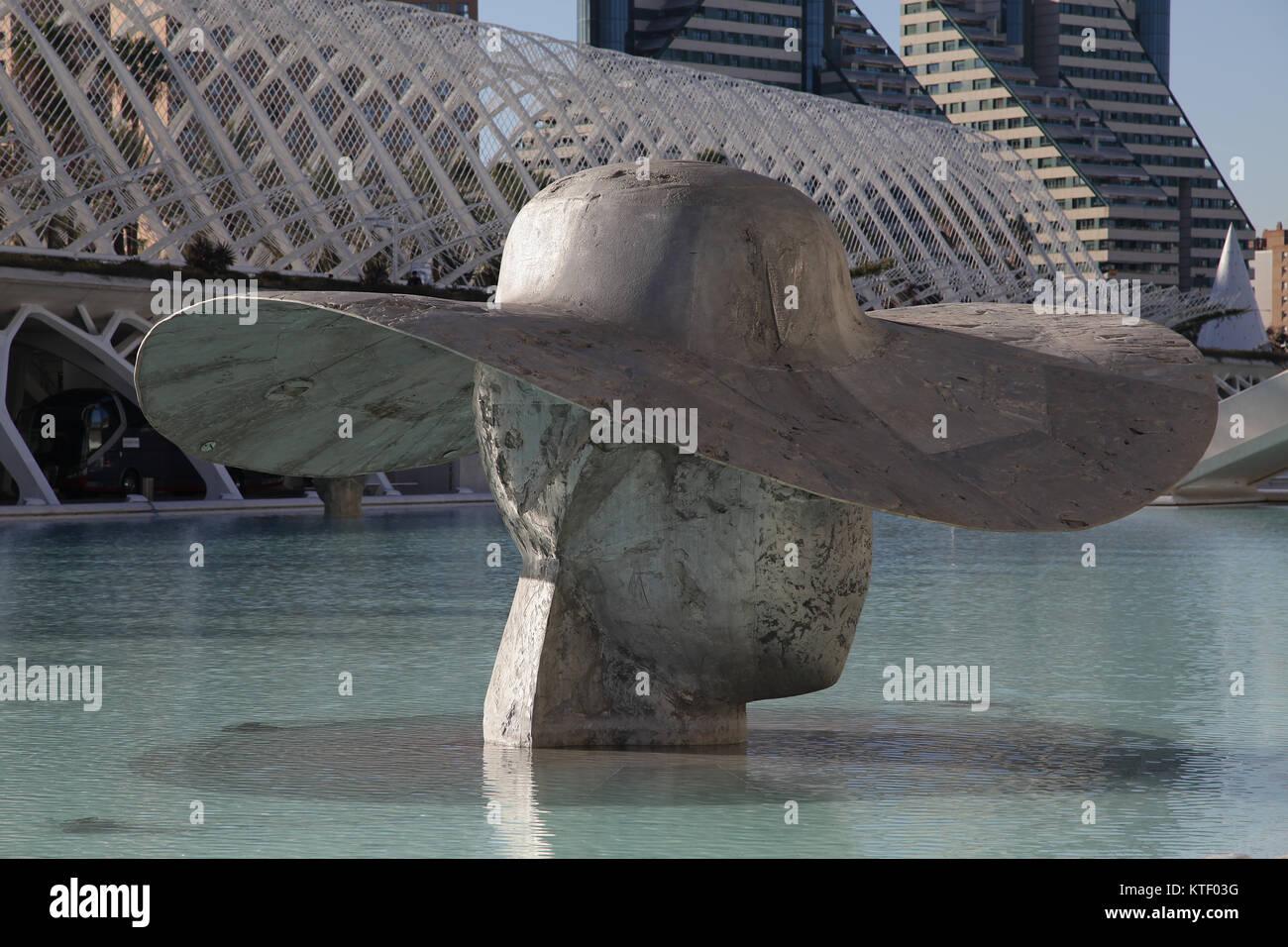 Ciudad de las Artes y las Ciencias.La Cité des Arts et des Sciences de Valence Espagne.par Santiago Calatrava et Banque D'Images