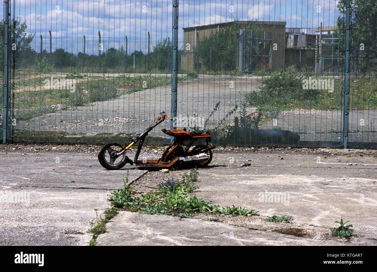 L'abandon de la base aérienne Greenham Common, Berkshire, Royaume-Uni, 2013 Photo Stock