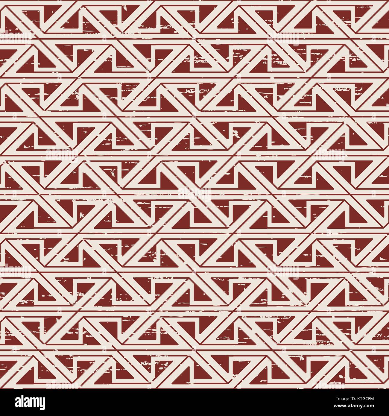 Usé sans soudure de fond géométrie triangle autochtones Photo Stock