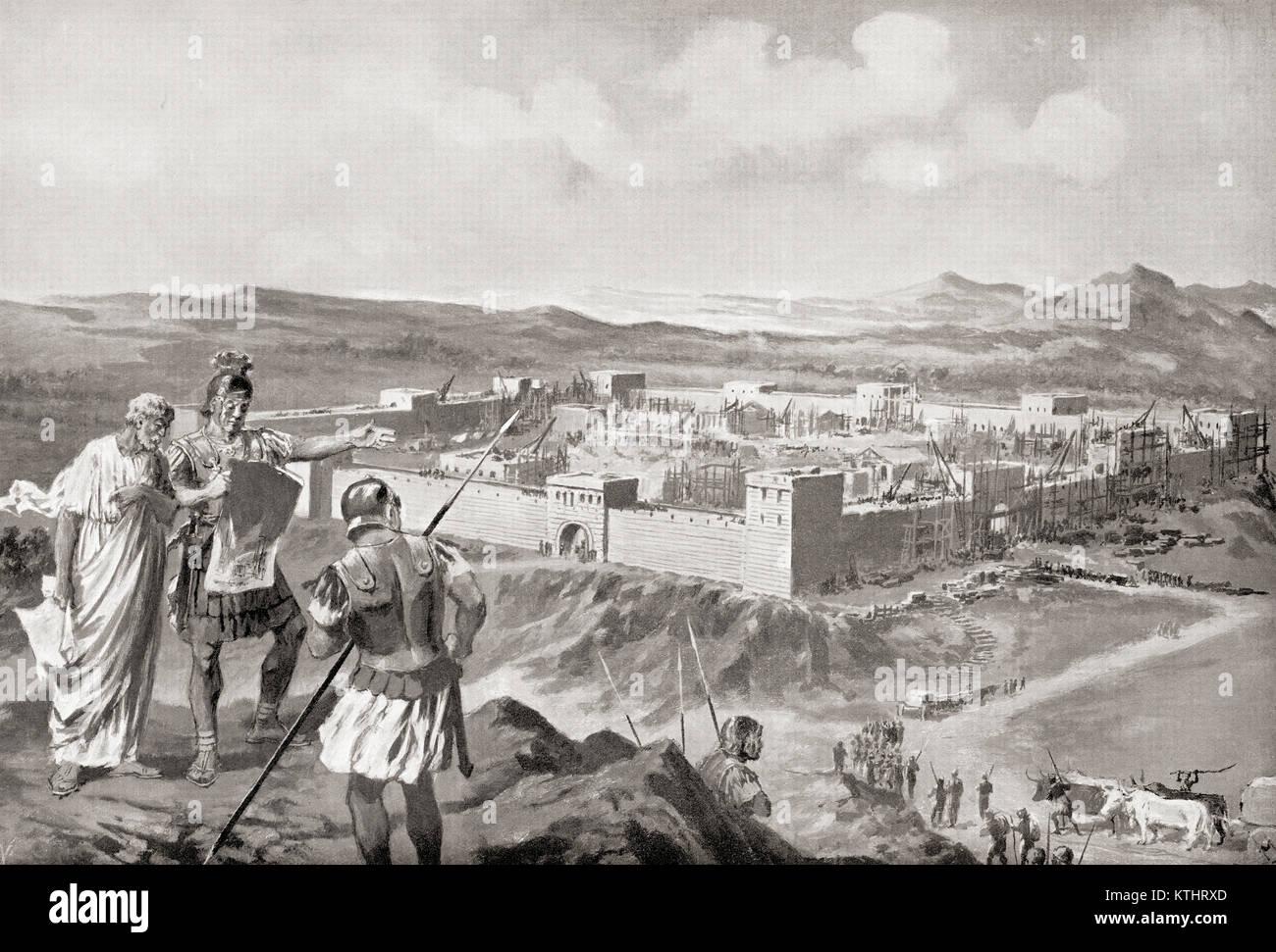 Une colonie latine, une colonie romaine en territoire conquis. L'histoire de Hutchinson de l'ONU, publié Photo Stock