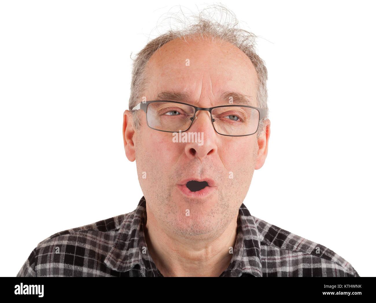 L'homme menace quelqu'un Photo Stock