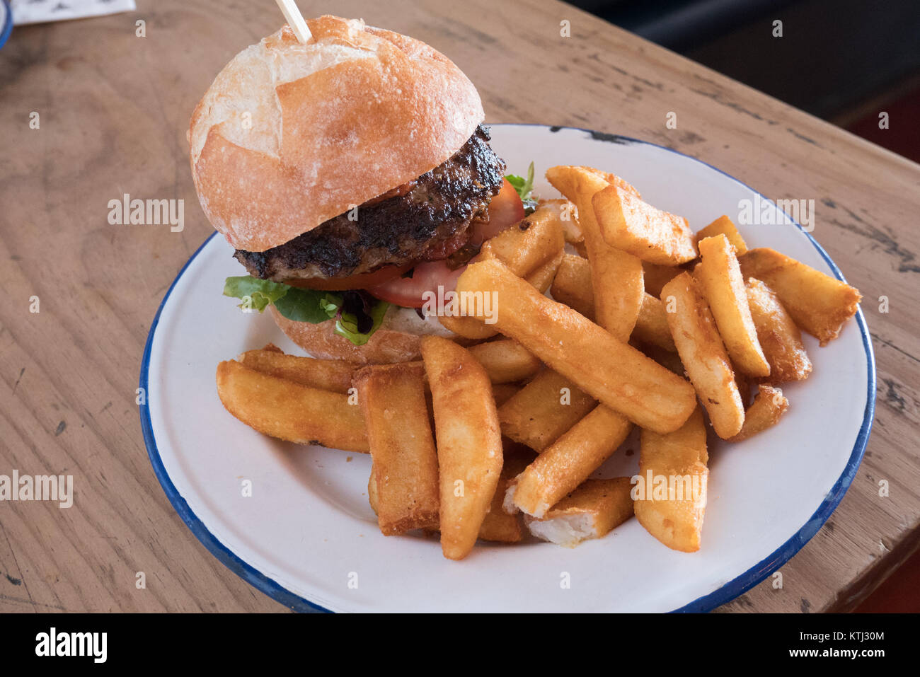 Australian gourmet burger de boeuf Photo Stock