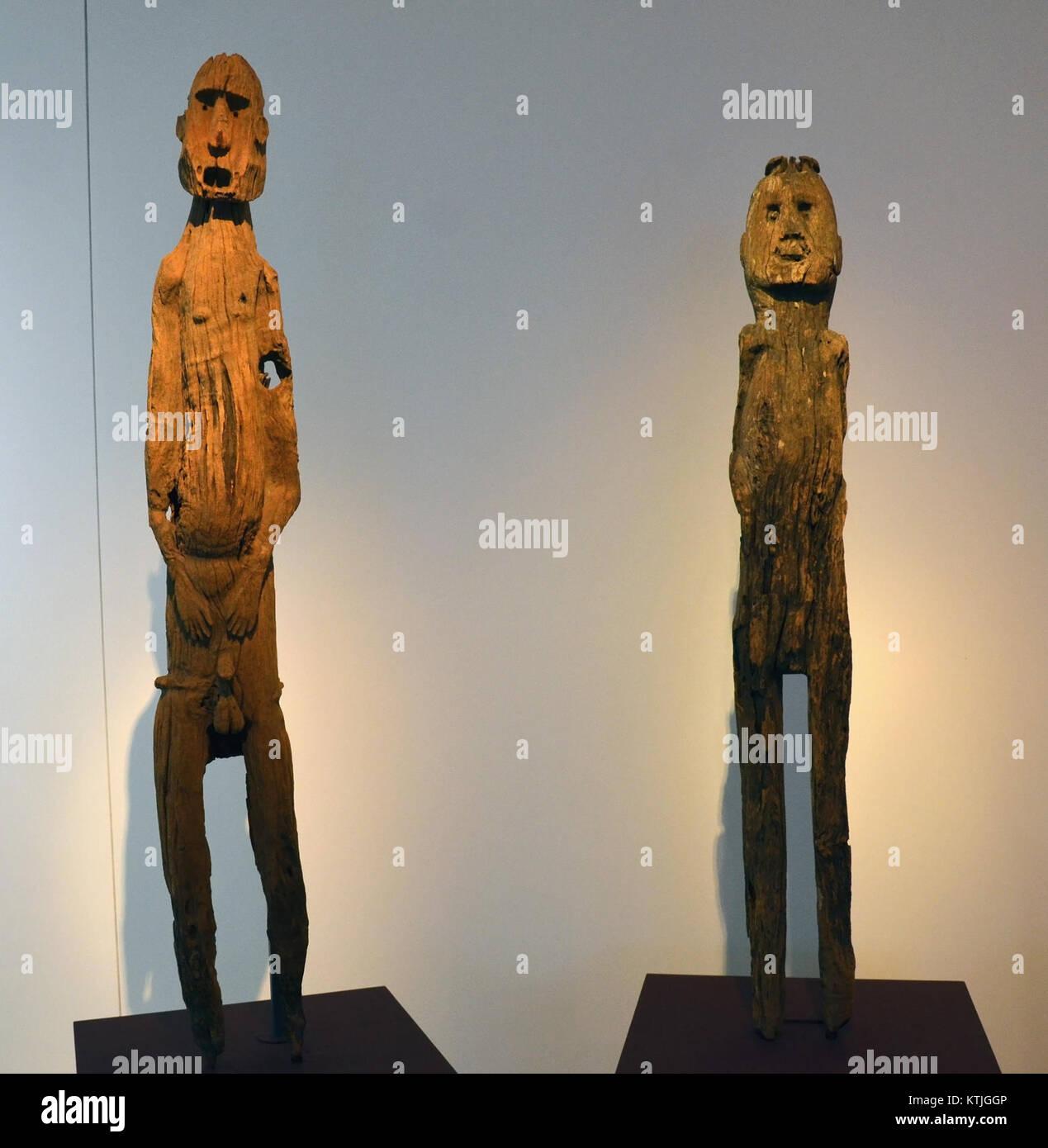 Museum der Kulturen Basel Timor Oriental 25102013 Statues Banque D'Images