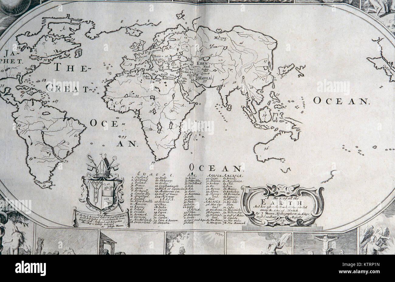 1770 carte du monde sans la nouvelle