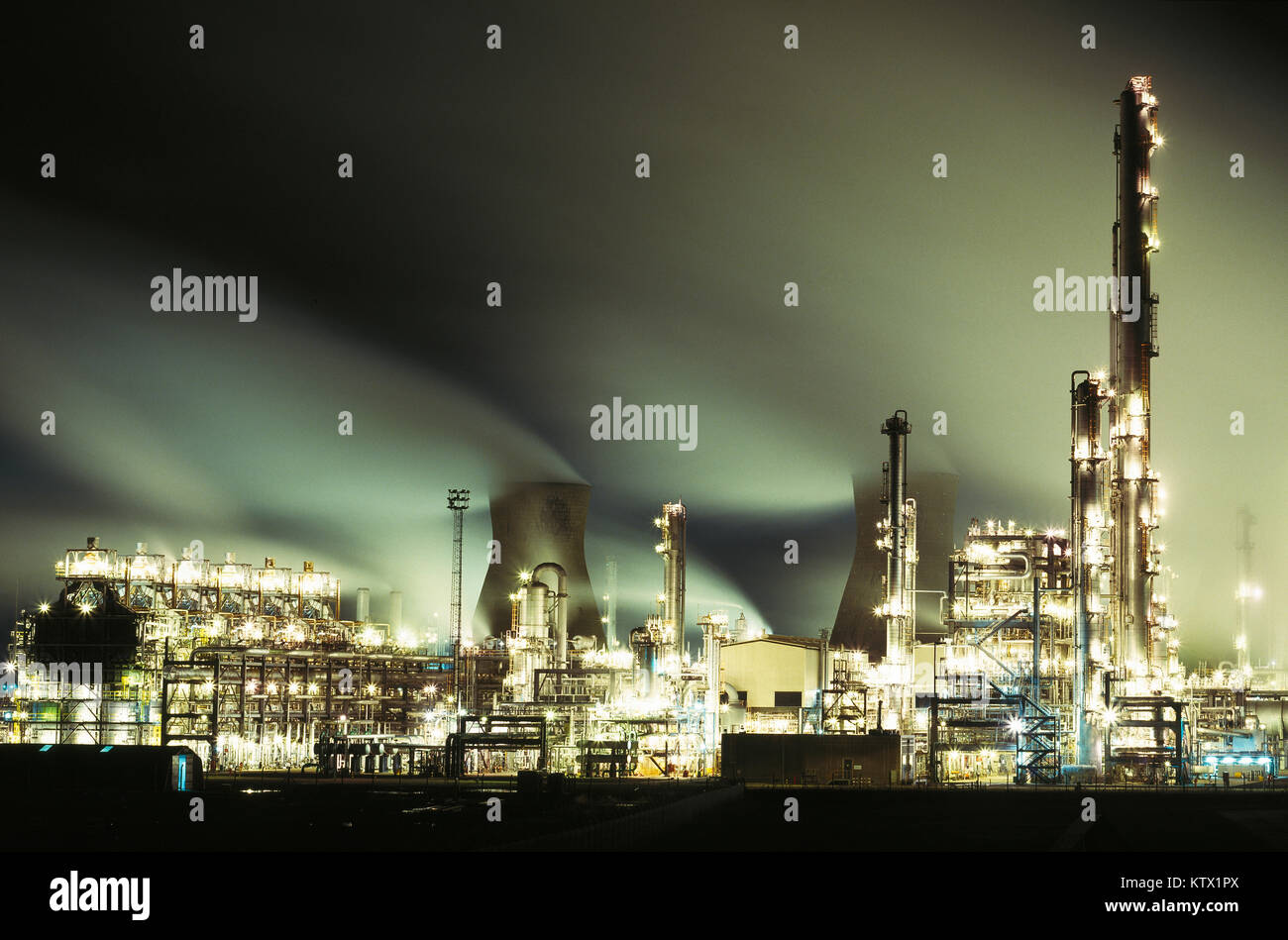 L'essence de Grangemouth-chimiques complexes, Falkirk, Ecosse, Royaume-Uni Photo Stock