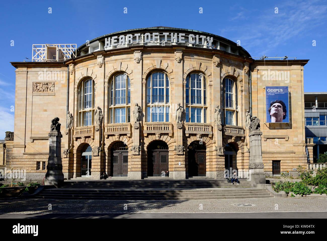 Freiburg, stades urbains, Städtische Bühnen Banque D'Images