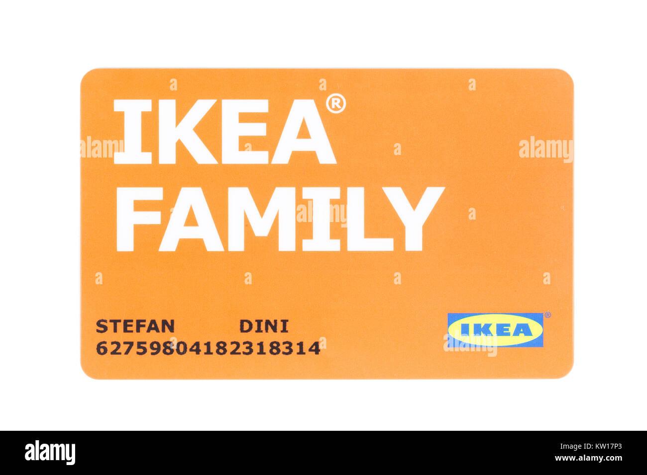 Ikea Espagne Carte.Carte Ikea Family Banque D Images Photo Stock 170287771