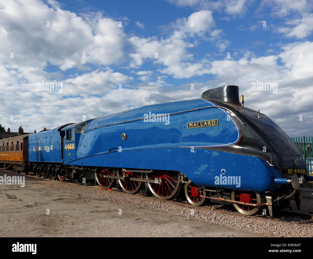 Mallard un La4 Pacific Class Locomotive, titulaire de le record du monde de vitesse pour une locomotive à vapeur. Photo Stock