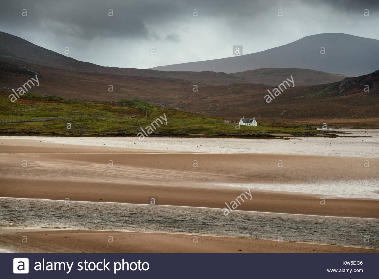 Une maison dans le nord des highlands d'Écosse. Photo Stock