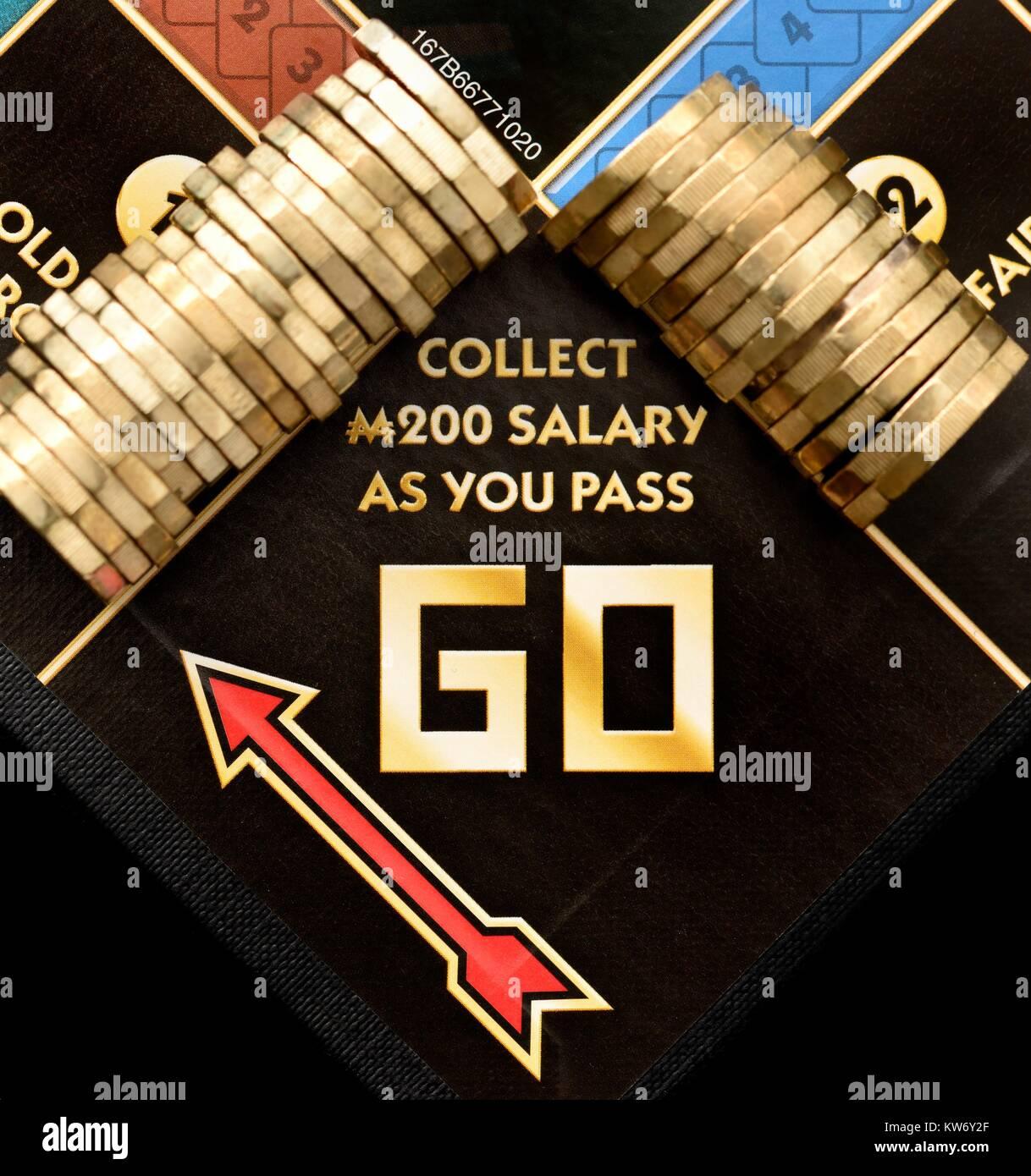 Augmentation de salaire salaire augmenter concept Banque D'Images