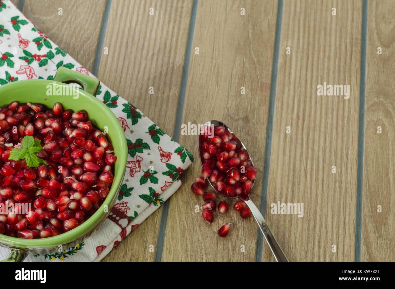 Antioxydant naturel, les grenades pour une vie saine, Photo Stock
