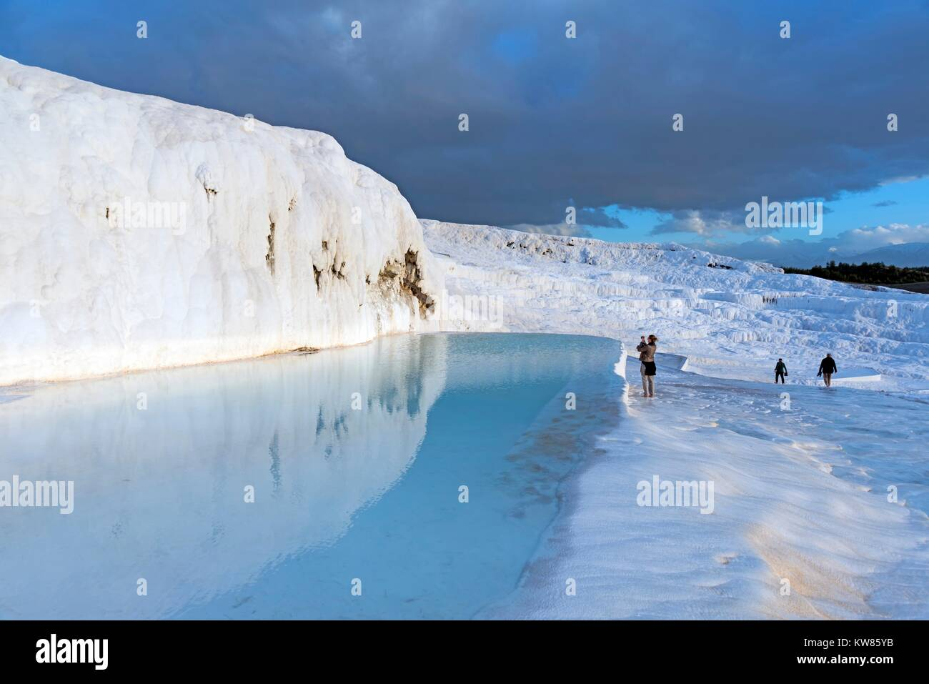 Le 24 janvier 2015; PAMUKKALE Pamukkale,est un site naturel à Denizli Province dans le sud-ouest de la Photo Stock