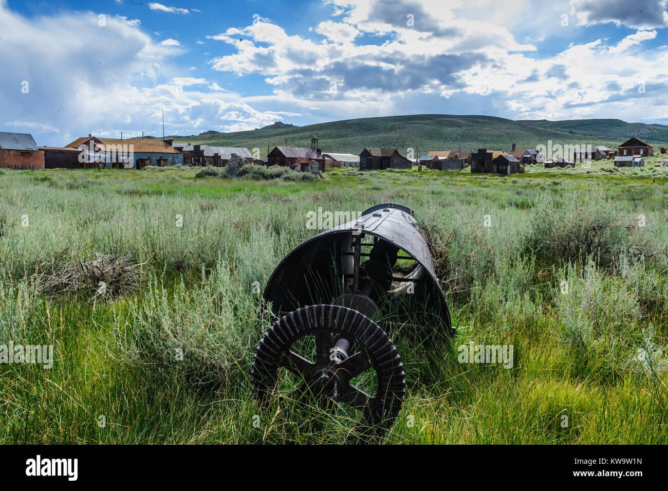 Vieux, équipements miniers abandonnés Photo Stock