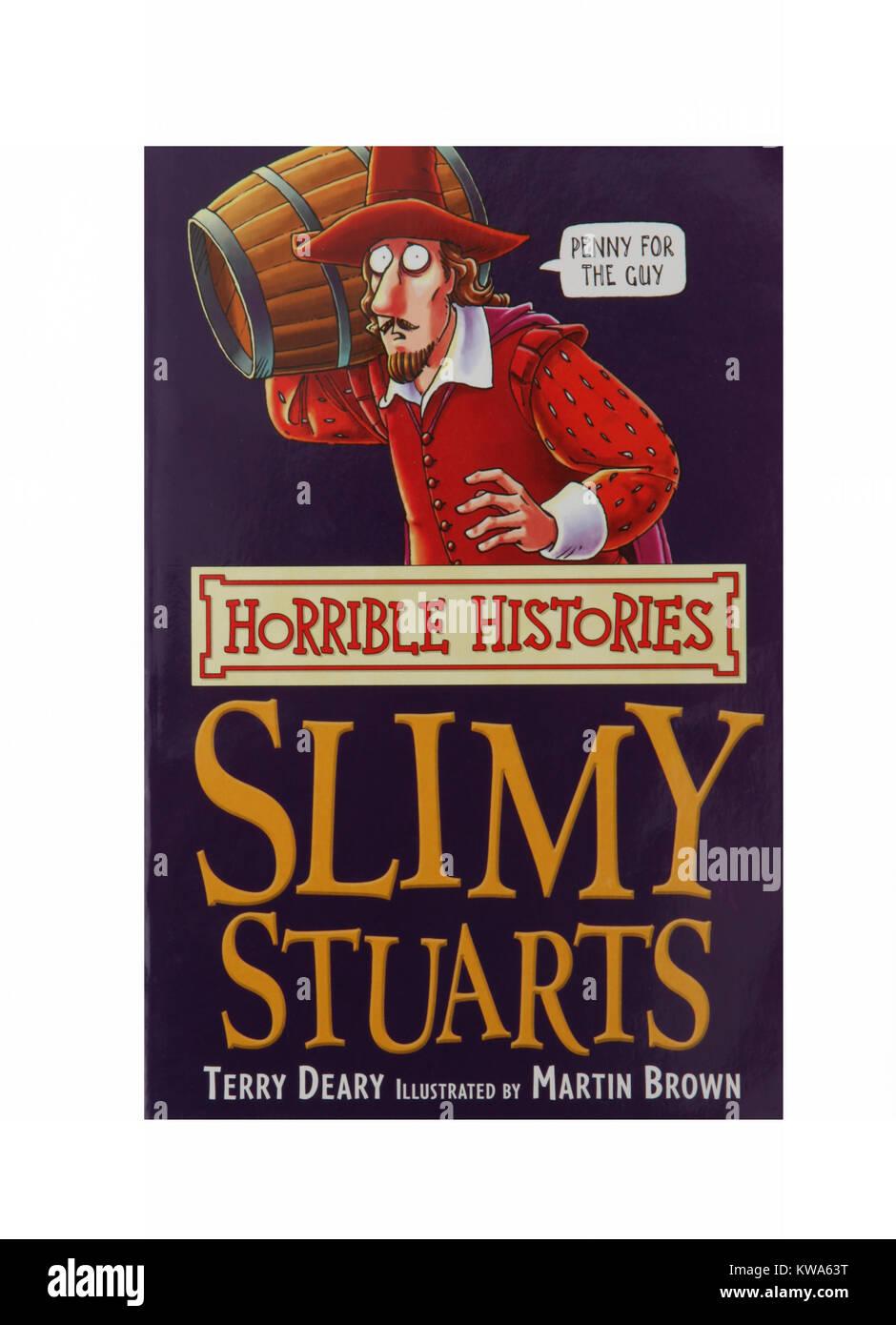 Le livre, Visqueux Stuarts par histoires horribles mornes Terry Photo Stock