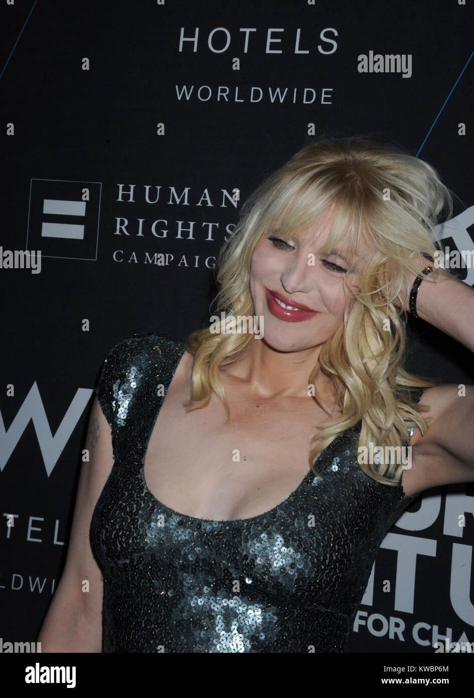 NEW YORK, NY - 21 OCTOBRE: Courtney Love assiste à la W's 'Turn It Up pour le Changement' Photo Stock