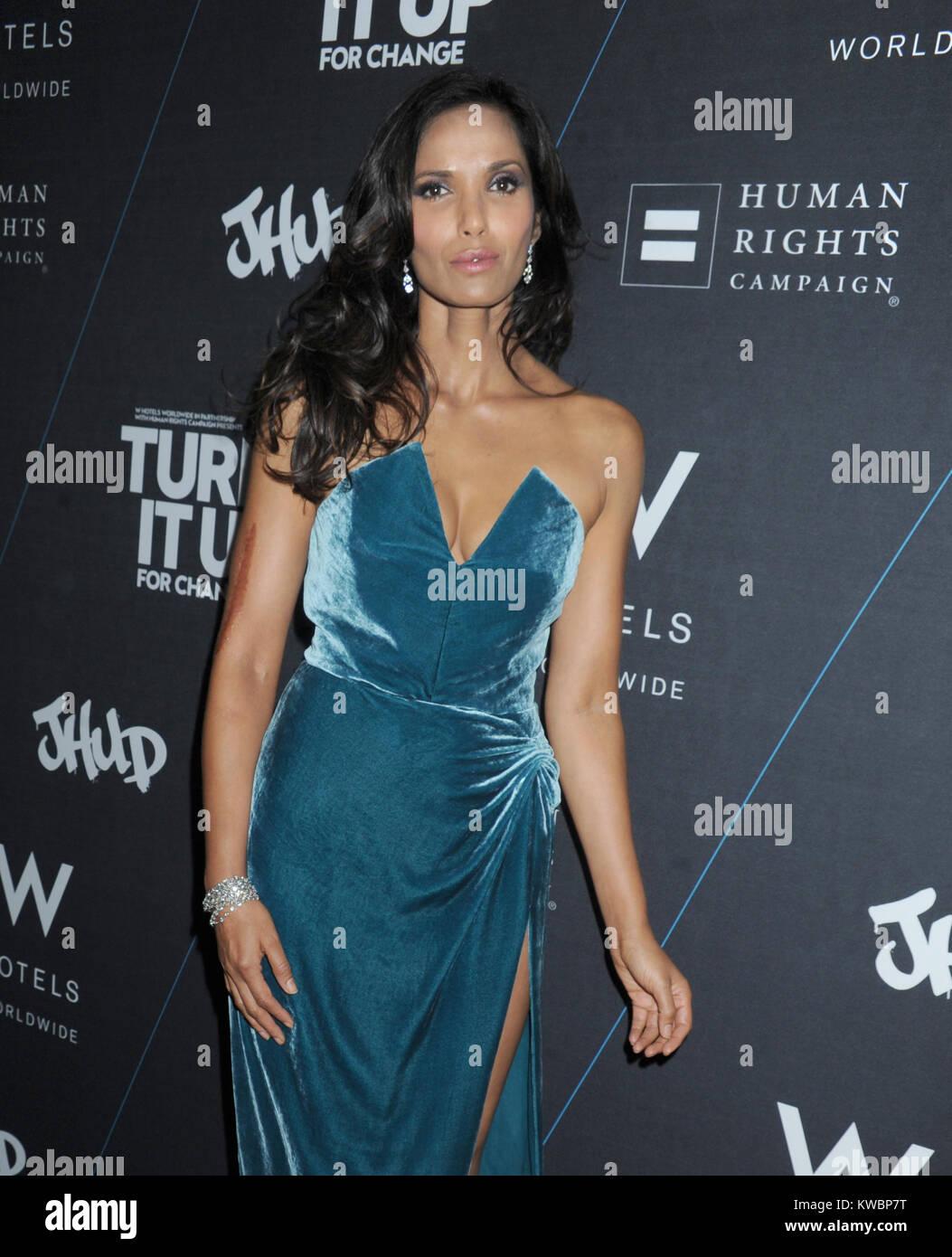 NEW YORK, NY - 21 OCTOBRE: Padma Lakshmi assiste à la W's 'Turn It Up pour le Changement' Photo Stock