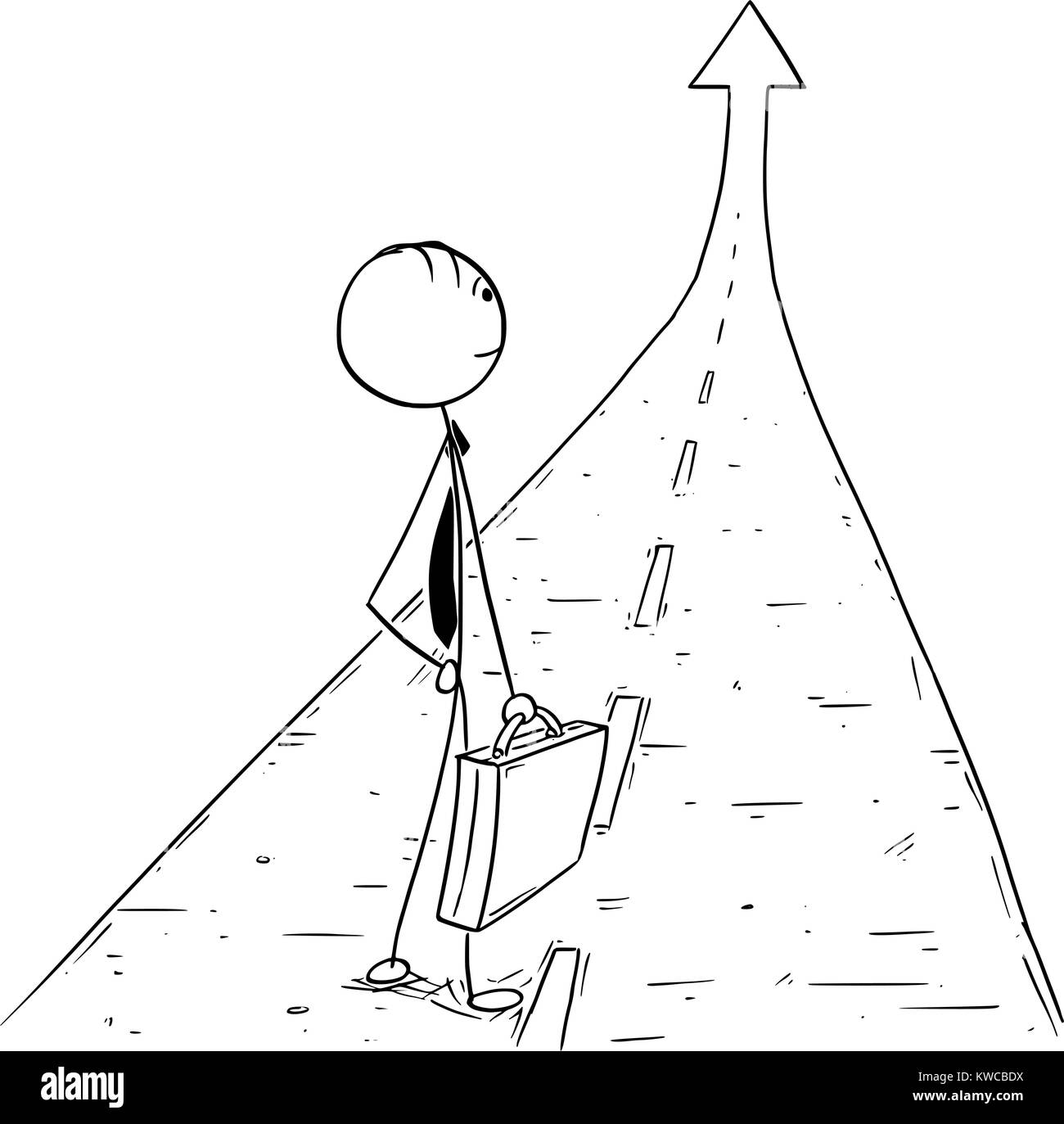 Dessin De Route cartoon stick man dessin illustration conceptuelle de businessman