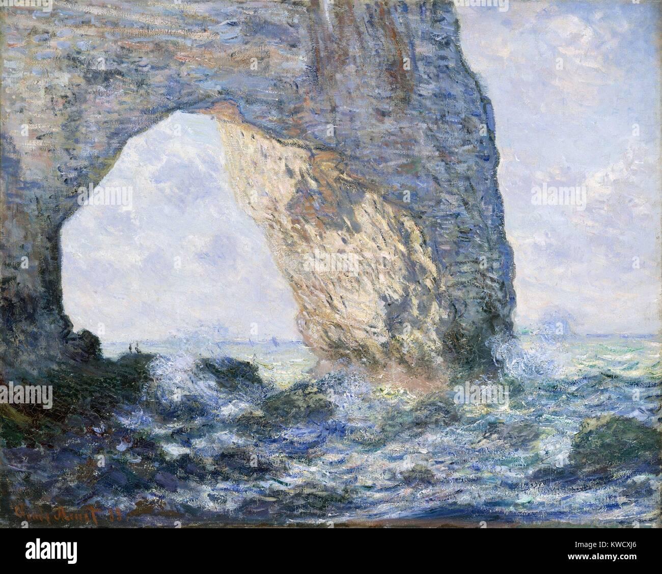 La Manneporte Etretat Par Claude Monet 1883 La Peinture