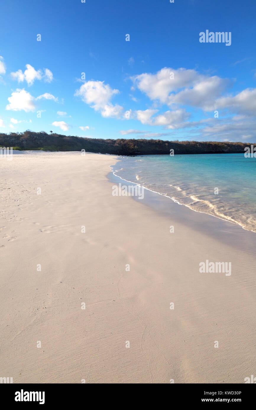 Plage de sable - les Galapagos plage déserte à Gardner Bay, Espanola Island, îles Galapagos, Equateur Photo Stock
