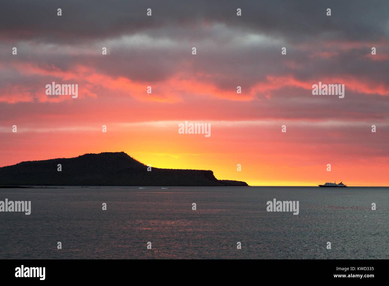 Voyage Galapagos - croisière au coucher du soleil et de l'île Floreana, Galapagos, Equateur Amérique Photo Stock