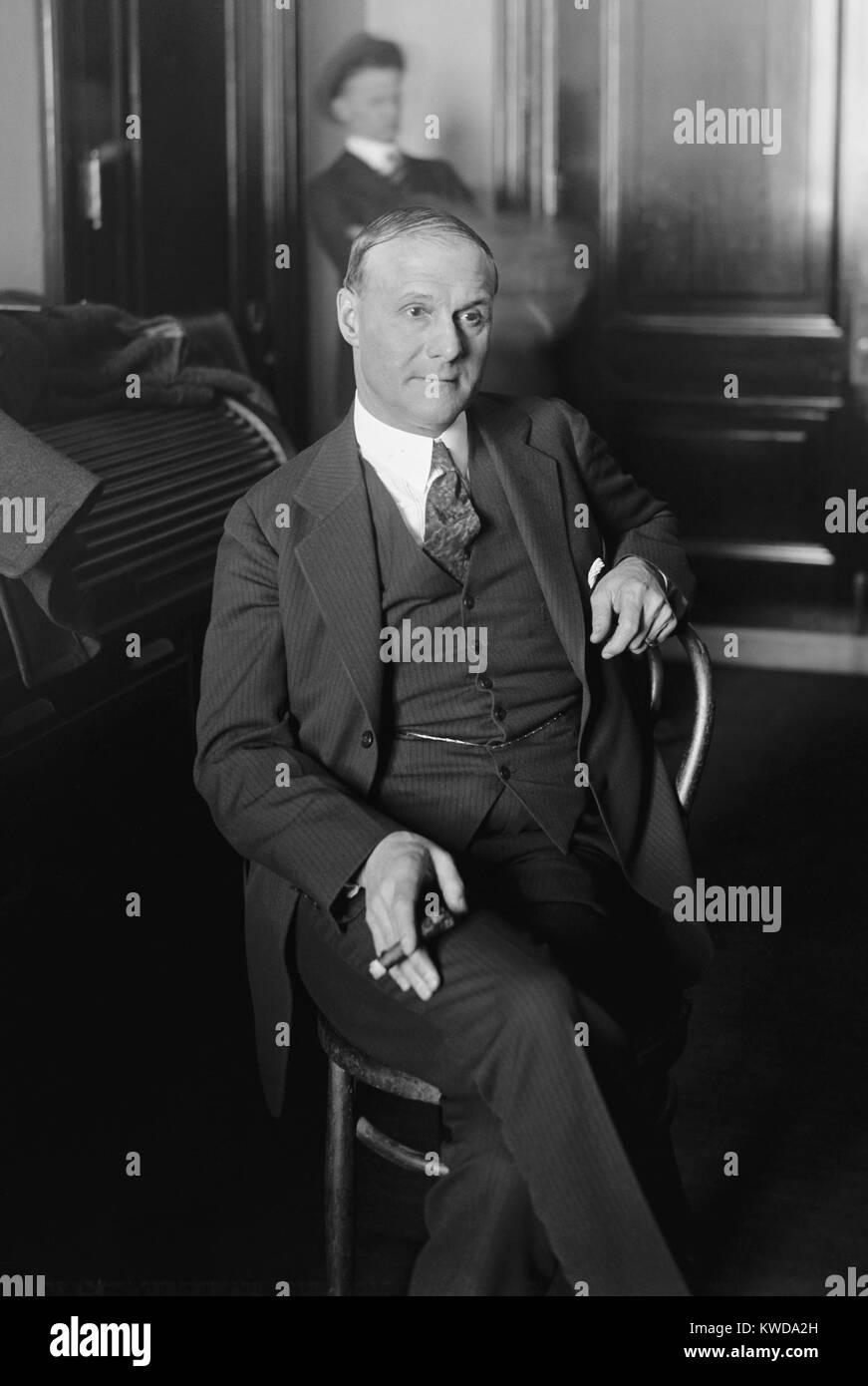 Tex Rickard, 1920 promoteur de boxe un public élargi en provoquant des médias et de l'intérêt Photo Stock