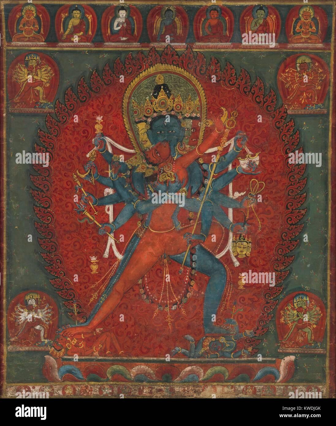 Et De Vajravarahi Chakrasamvara Bouddhiste Népal 1570 1600