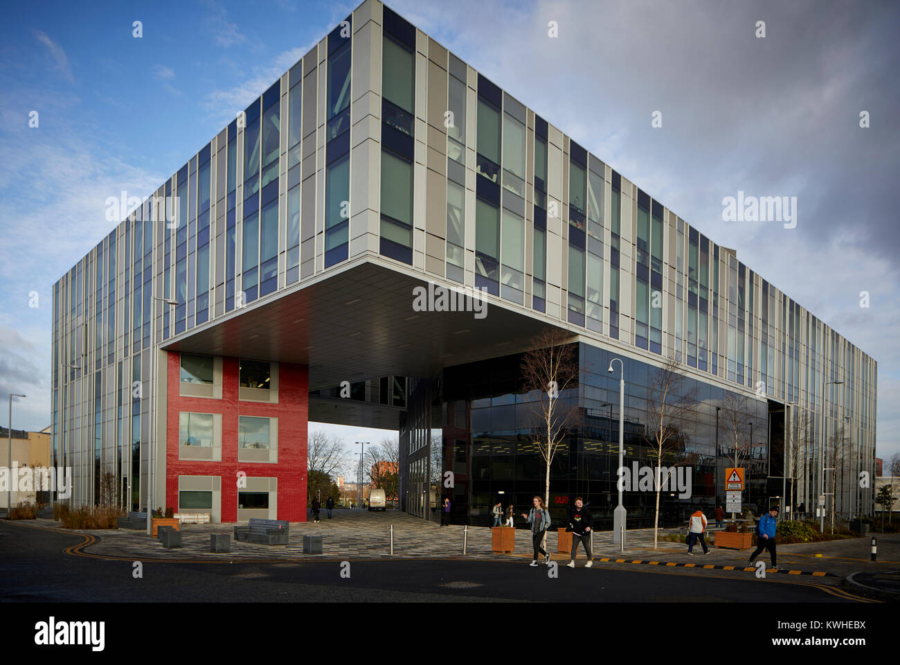 L'Université de Salford nouveau moderne en verre contemporain New Adelphi Theatre par Stride Treglown architectes Photo Stock
