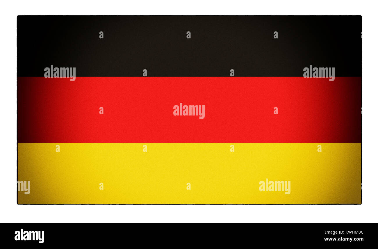 Un drapeau allemand en difficulté Photo Stock
