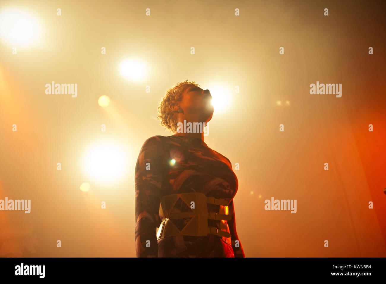 L'auteur-compositrice-interprète et de R&B Kelis superstar est ici photographié à un concert Photo Stock