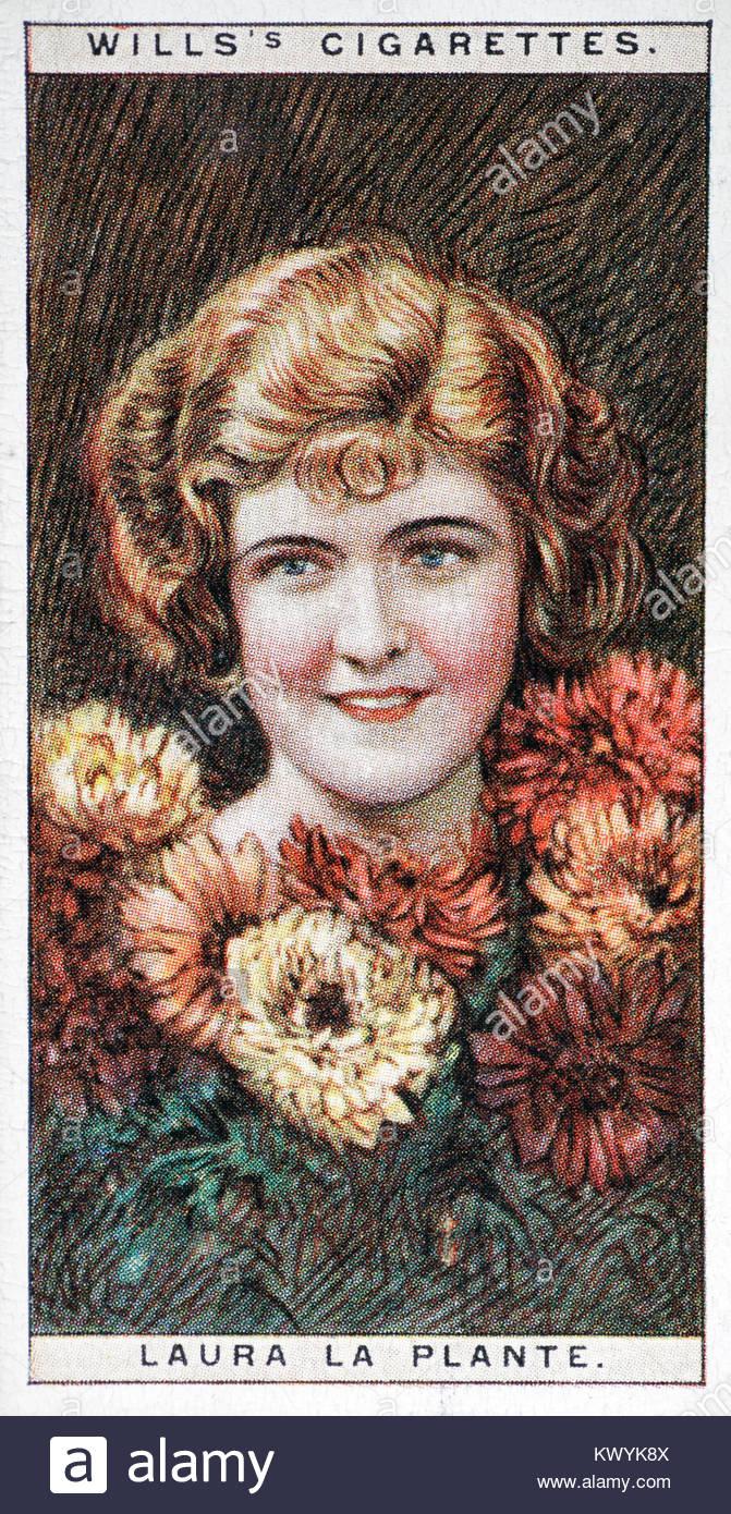 Laura La Plante était une actrice américaine de l'ère du cinéma muet 1904 - 1996 Photo Stock