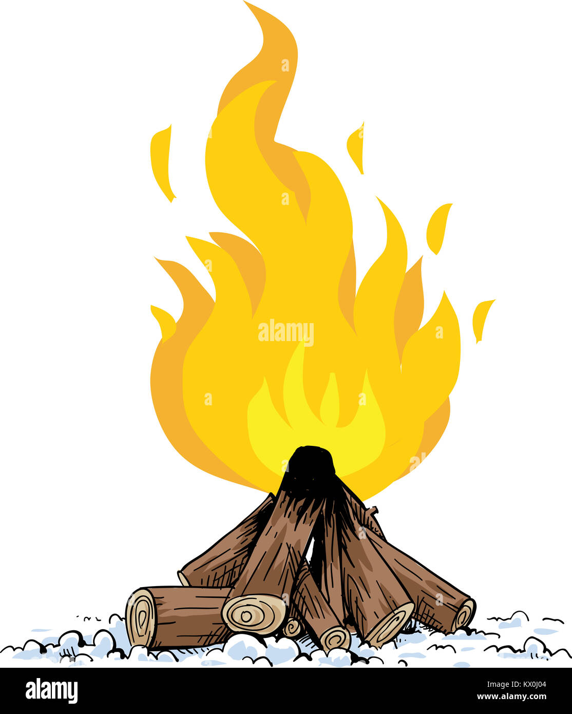 un dessin de tas de bois alimentant un feu bain de camp banque d 39 images photo stock 170888484. Black Bedroom Furniture Sets. Home Design Ideas